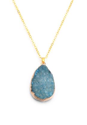 www.sayila.be - Halsketting met natuursteen hanger Crystal druppel 45-50cm