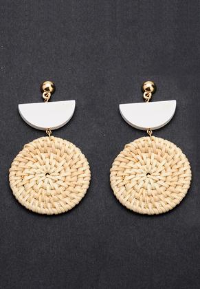 www.sayila.com - Straw ear studs round 75x40mm