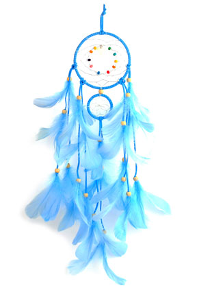 www.sayila.com - Pendant dreamcatcher with feathers 55x11cm