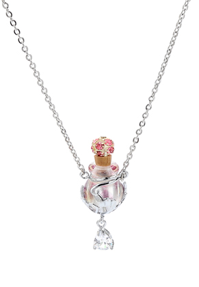 www.sayila.com - Necklace with glass bottle and gift box 55cm