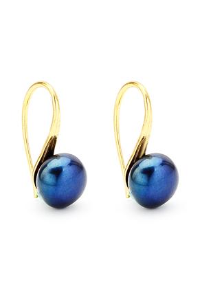www.sayila.nl - Metalen oorbellen met zoetwaterparel 18x8mm