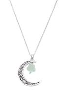 www.sayila-perlen.de - Halskette mit Mond und Stern Naturstein Green Aventurine 60-65cm - J07358