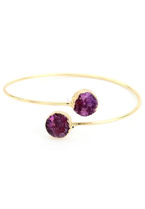 www.sayila-perlen.de - Stulpe-Armband mit Naturstein Crystal 20cm