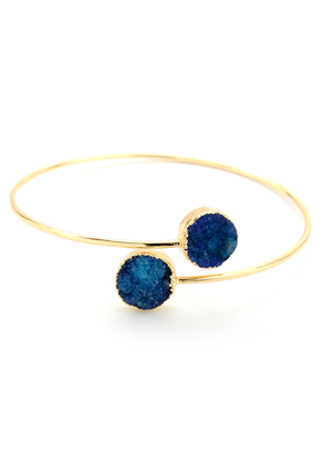 www.sayila.nl - Cuff armband met natuursteen Crystal 20cm