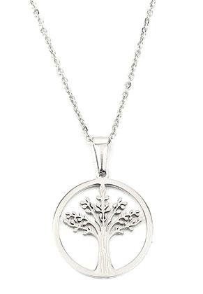 www.sayila.com - Stainless steel necklace with tree 50cm
