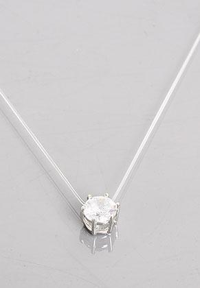 www.sayila.com - Necklace with zirconia pendant 40-45cm