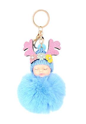 www.sayila.es - Llavero con bola de pelusa bebé