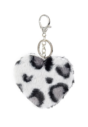 www.sayila.com - Key fob heart with leopard print