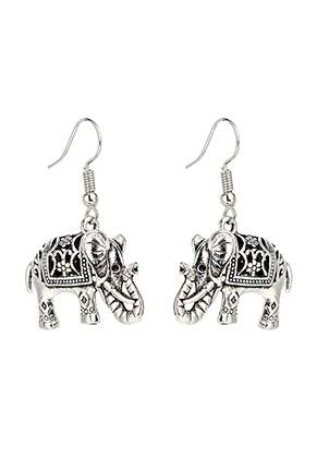 www.sayila-perlen.de - Bohemian Ohrringe Elefant 38x25mm