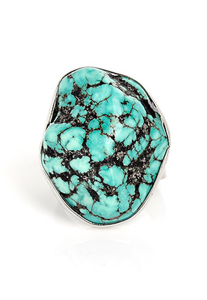www.sayila.be - Ring met natuursteen Turquoise Howlite >= Ø 19mm