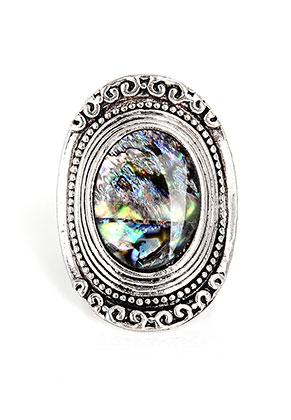www.sayila.be - Ring met parelmoer ovaal >= Ø 19mm