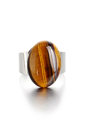 www.sayila.com - Ring with natural stone Yellow Tiger Eye >= Ø 18mm