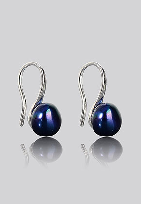 www.sayila.com - Metal earrings with freshwater pearl 18x8mm