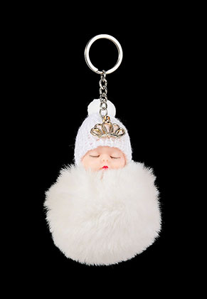 www.sayila-perlen.de - Schlüsselanhänger mit Flusenkugel Baby