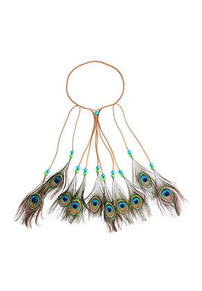 www.sayila-perlen.de - Haarband mit Pfauenfedern