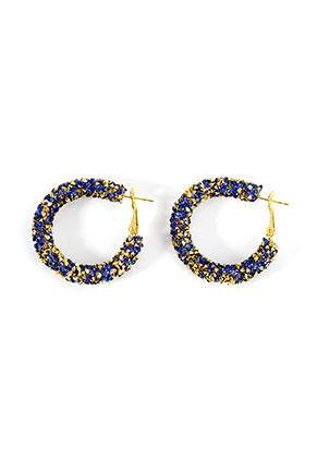 www.sayila.fr - Boucles d'oreilles avec strass 40x7mm