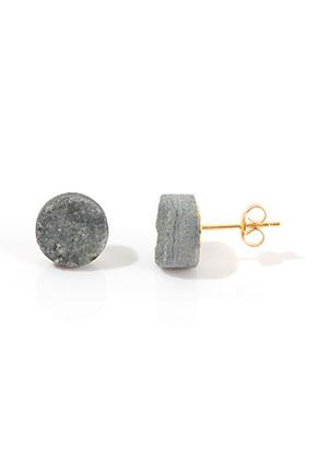 www.sayila.nl - Natuursteen oorstekers Crystal 18x10mm