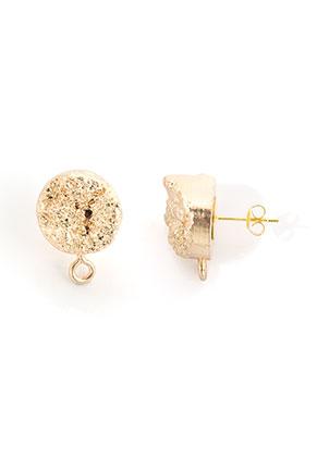 www.sayila.nl - Natuursteen oorstekers Crystal met oogje 20x19x15,5mm