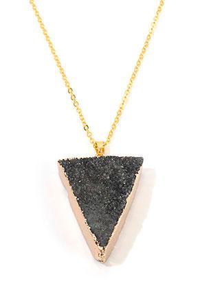 www.sayila-perlen.de - Halskette mit Naturstein Anhänger Crystal Dreieck 45-50cm
