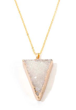 www.sayila.be - Halsketting met natuursteen hanger Crystal driehoek 45-50cm
