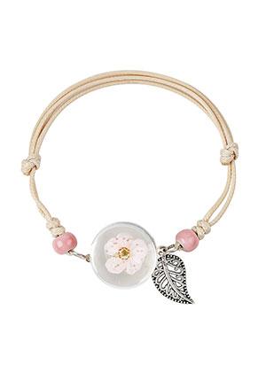 www.sayila-perlen.de - Armband mit Trockenblumen in glas 22-25cm