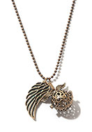 www.sayila.com - Necklace with angel caller/Prayer Box round and pendant wing 65cm - J07818