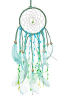 www.sayila.com - Pendant dreamcatcher with feathers and LED lights 47x11cm - J07827