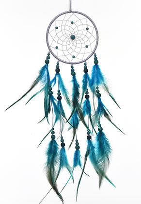 www.sayila.com - Pendant dreamcatcher with feathers 57x11cm