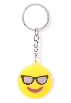 www.sayila-perlen.de - Kunststoff Schlüsselanhänger Emoji 10x3,5cm
