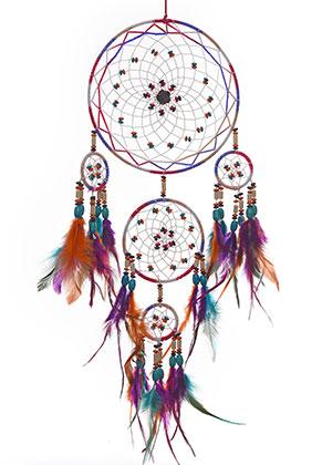 www.sayila.com - Pendant dreamcatcher with feathers 77x20cm