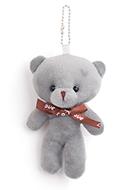 www.sayila.com - Textile pendant/key fob bear 13x8cm - J07912