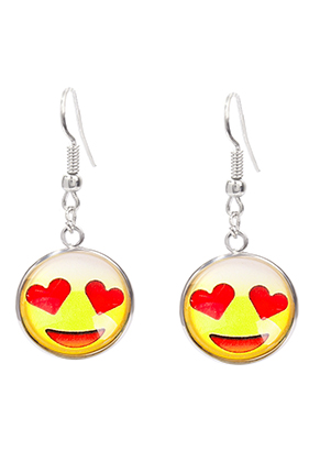 www.sayila.co.uk - Earrings with emoji 42x17,5mm