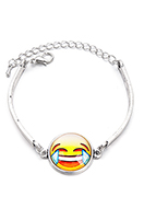 www.sayila.co.uk - Bracelet with emoji 18-21cm - J07946