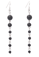 www.sayila.com - Natural stone earrings lava rock/Pelelith - J07962