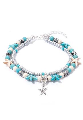www.sayila.com - Bracelet/anklet with starfish 21-26cm