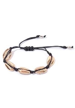 www.sayila.co.uk - Bracelet with wax cord and shells 16-29cm