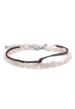 www.sayila.com - Set of bracelets/anklets with wax cord and shells 21-26cm