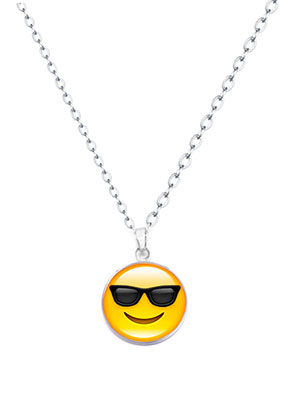 www.sayila.co.uk - Necklace with emoji 47-52cm