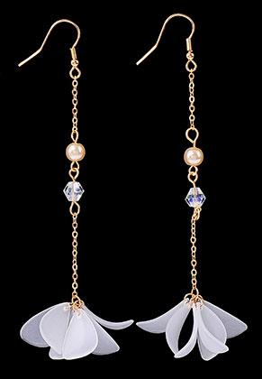 www.sayila.com - Earrings with flower 11x2,5cm