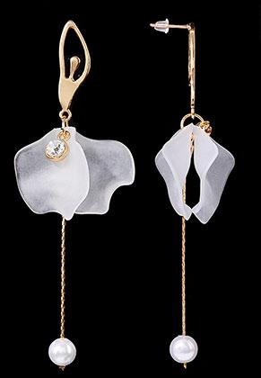 www.sayila.com - Metal ear studs ballerina 10x3cm
