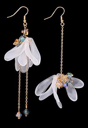 www.sayila.com - Earrings with flowers 10x2cm