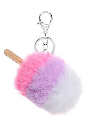 www.sayila.be - Sleutelhanger met pluizenbol ijsje