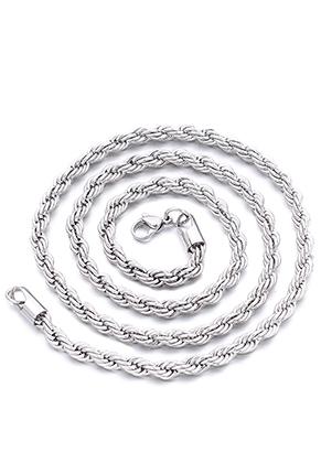 www.sayila-perlen.de - Edelstahl Halskette 50cm, 4mm dick