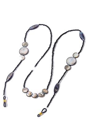 www.sayila.fr - Chaîne á lunettes avec perles en nacre 75cm