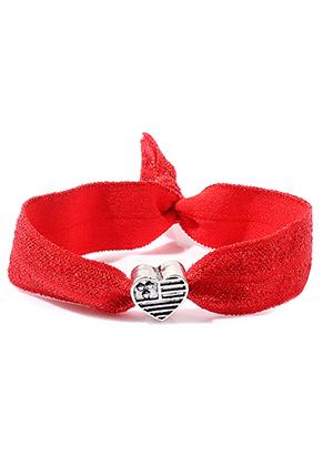 www.sayila.nl - Armband van elastisch band met hartje 17cm