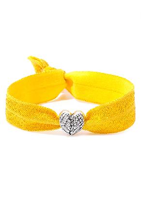 www.sayila.fr - Bracelet en bande élastique avec coeur 17cm