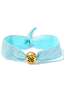 www.sayila.co.uk - Bracelet made of elastic band with four-leaf clover 17cm - J08277