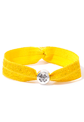 www.sayila.co.uk - Bracelet made of elastic band with four-leaf clover 17cm