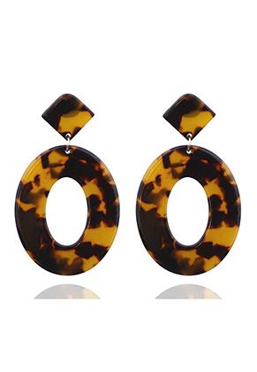 www.sayila-perlen.de - Kunststoff Resin Ohrstecker 65x40mm