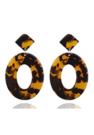 www.sayila.com - Synthetic resin ear studs 65x40mm - J08337